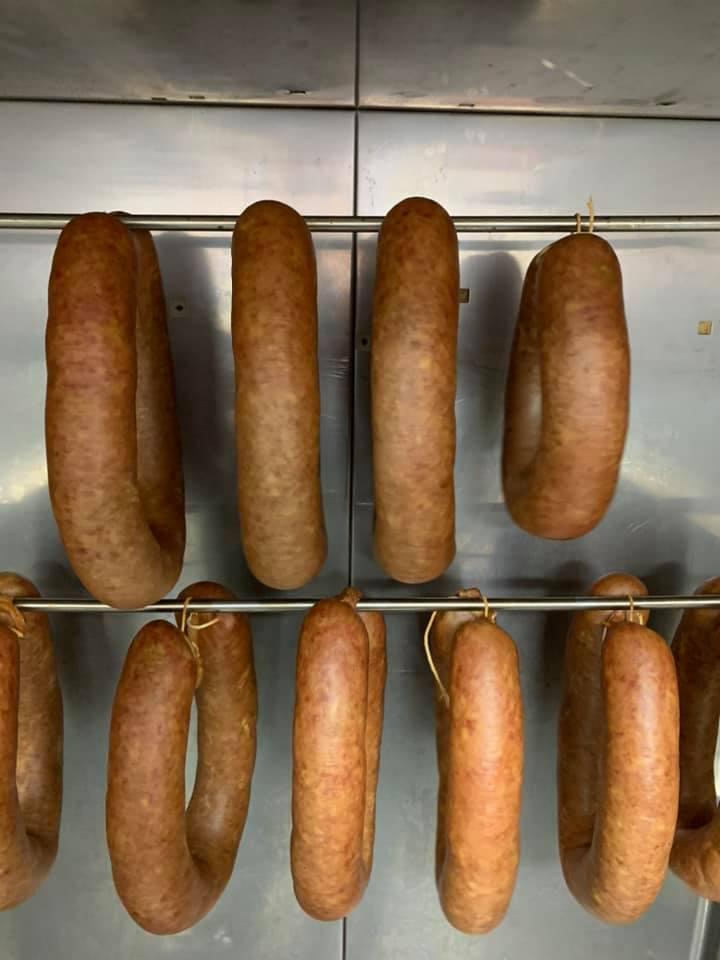 rookworsten en andere worsten van BBQ de Purmer