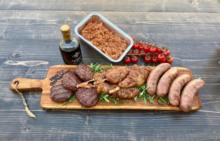 BBQ vleespakket voor vier personen
